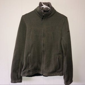 Pacific Trail Olive Green Fleece Jacket